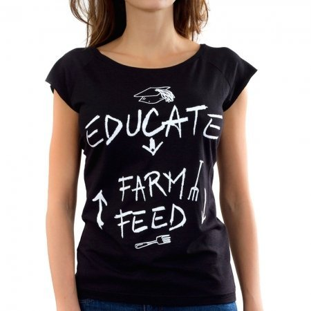 Dulce-Salerno-T-shirt-Educate-Women-Black