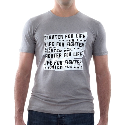FIGHTER FOR LIFE TEE <br> MEN'S SLIM FIT JERSEY